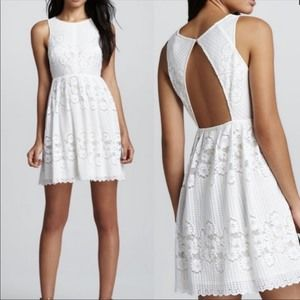 Free People Rocco Boho Yellow & White Lace Dress